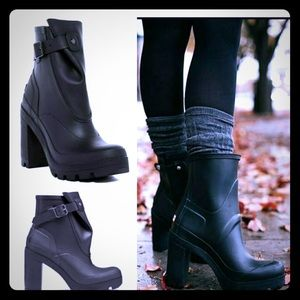 Hunter boots high heeled